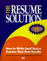 The Resume Solution