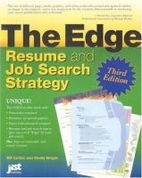 The Edge Resume and Job Search Strategy