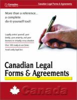 Canadian Legal Forms & Agreements