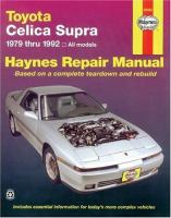 Toyota Supra Automotive Repair Manual