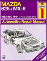 Mazda 626 and MX-6 Automotive Repair Manual