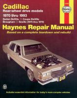 Cadillac RWD Automotive Repair Manual