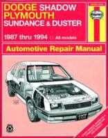 Dodge Shadow/Plymouth Sundance & Duster Automotive Repair Manual