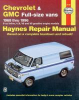 Chevrolet & GMC Vans Automotive Repair Manual