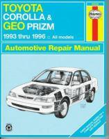 Toyota Corolla & Geo Prizm Automotive Repair Manual