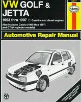 VW Golf and Jetta Automotive Repair Manual