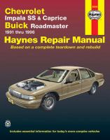 Chevrolet Impala SS and Caprice, Buick Roadmaster 1991 Thru 1996