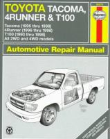 Toyota Tacoma, 4Runner & T100 Automotive Repair Manual