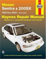 Nissan Sentra & 200SX Atuomotive Repair Manual