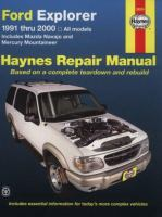 Ford Explorer, Mazda Nvajo & Mercury Mountaineer Automotive Repair Manual