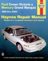 Ford Crown Victoria & Mercury Grand Marquis Automotive Repair Manual
