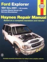 Ford Explorer, Mazda Navajo & Mercury Mountaineer Automotive Repair Manual