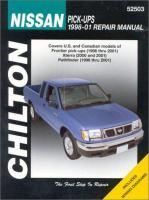 Chilton's Nissan Pick-ups 1998-01 Repair Manual