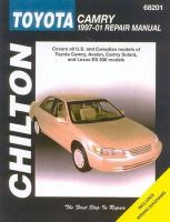Chilton's Toyota Camry 1997-01 Repair Manual