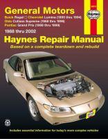 General Motors Buick Regal, Chevrolet Lumina, Olds Cutlass Supreme, Pontiac Grand Prix Automotive Repair Manual