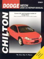 Dodge Neon 2000-03 Repair Manual