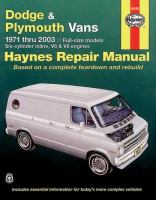 Dodge & Plymouth Vans Automotive Repair Manual