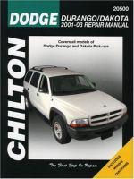 Dodge Durango/Dakota 2001-03 Repair Manual