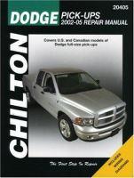 Chilton's Dodge Pick-ups 2002-05 Repair Manual