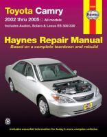 Toyota Camry and Lexus ES 300/330 Automotive Repair Manual