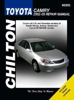 Chilton's Toyota Camry 2002-05 Repair Manual
