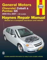 Chevrolet Cobalt & Pontiac G5 Automotive Repair Manual