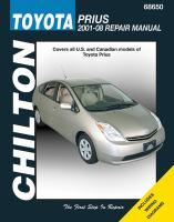 Chilton's Toyota Prius 2001-08 Repair Manual