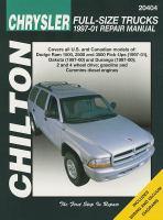 Chilton's Chrysler Full-size Trucks 1997-01 Repair Manual