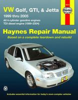 VW Golf, GTI and Jetta Automotive Repair Manual