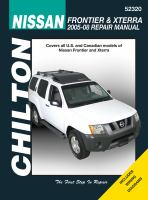 Chilton's Nissan Frontier & Xterra 2005-08 Repair Manual