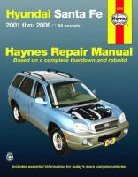Hyundai Santa Fe Automotive Repair Manual