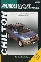 Chilton's Hyundai Santa Fe 2001-06 Repair Manual