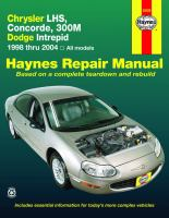 Chrysler LH-series Automotive Repair Manual