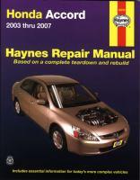 Honda Accord Automotive Repair Manual