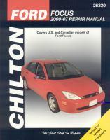 Chilton's Ford Focus  2000-07 Repair Manual