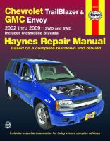 Chevrolet TrailBlazer, GMC Envoy & Oldsmobile Bravada Automotive Repair Manual