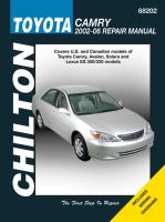 Chilton's Toyota Camry 2002-06 Repair Manual
