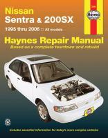 Nissan Sentra & 200sx Automotive Repair Manual