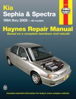 Kia Sephia & Spectra Automotive Repair Manual