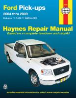 Ford Pick-ups Automotive Repair Manual