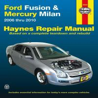 Ford Fusion & Mercury Milan Automotive Repair Manual