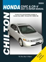 Chilton's Honda Civic & CR-V, 2001-10 Repair Manual