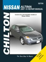 Chilton's Nissan Altima 2007-10 Repair Manual