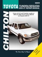 Chilton's Toyota Tundra/Sequoia 2000-07 Repair Manual