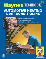 The Haynes Automotive Heating & Air-conditioning Systems Manual