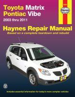 Toyota Matrix & Pontiac Vibe Repair Manual