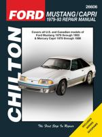 Chilton's Ford Mustang/Capri 1979-93 Repair Manual