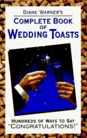 Diane Warner's Complete Book of Wedding Toasts