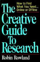 The Creative Guide To Research