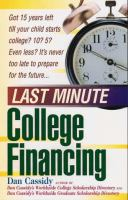 Last Minute College Financing